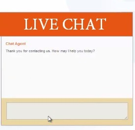 Sending in documents by Live Chat