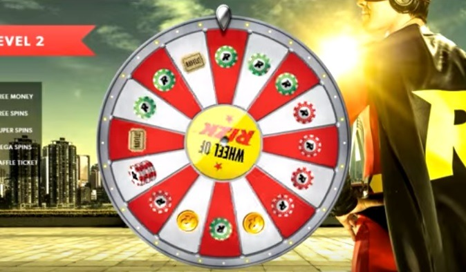 Lojalitetshjul Wheel of Rizk