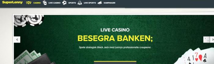 Superlenny casino bild sida